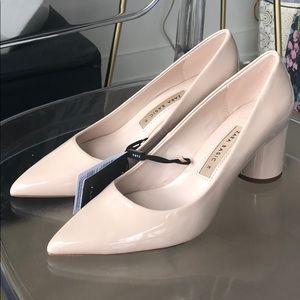 Nude/Cream block heels